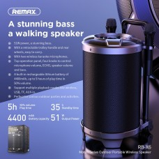 Remax RB-X6 Magic pupil outdoor trolley Bluetooth speaker Black