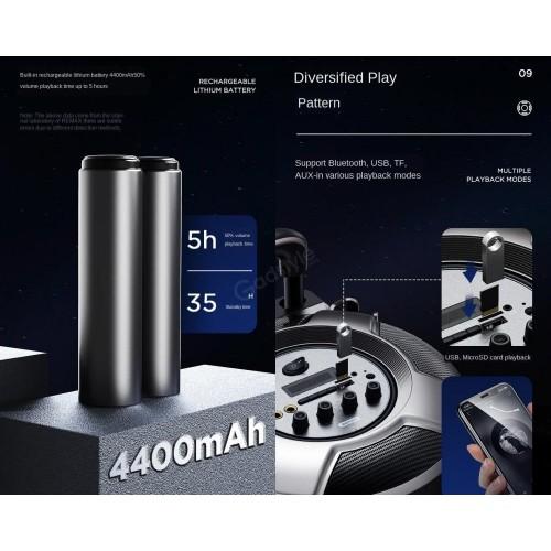 Remax RB-X6 Magic pupil outdoor trolley Bluetooth speaker Black
