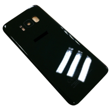 Rear Glass Battery Back Cover Replacement+Camera For Samsung Galaxy S8 Black