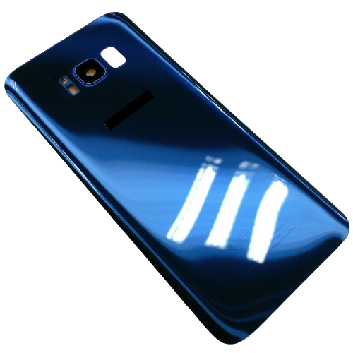 Rear Glass Battery Back Cover Replacement+Camera For Samsung Galaxy S8 Blue