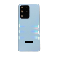 For Samsung Galaxy S20 Ultra/5G Rear Glass Battery Back Cover Replacement+Camera White