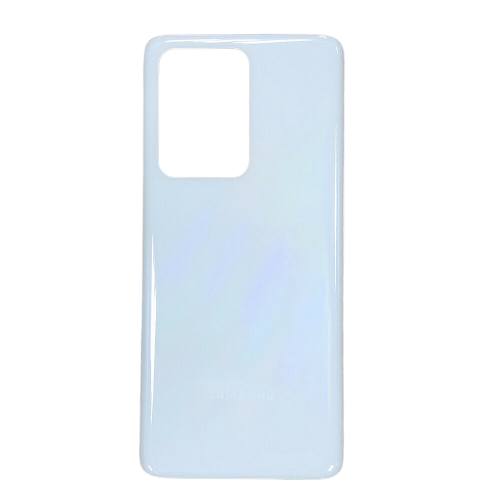 For Samsung Galaxy S20 Ultra/5G Rear Glass Battery Back Door Cover Replacement White