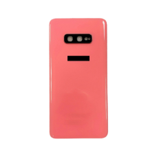 For Samsung Galaxy S10e G970F Rear Glass Battery Back Housing Cover+Camera Lens Orange