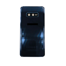 For Samsung Galaxy S10e G970F Rear Glass Battery Back Housing Cover+Camera Lens Black