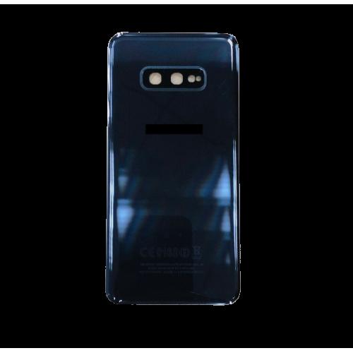 For Samsung Galaxy S10e G970F Rear Glass Battery Back Housing Cover+Camera Lens Black