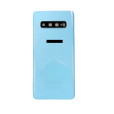For Samsung Galaxy S10 G973F Rear Glass Battery Back Housing Cover+Camera Lens Prism White
