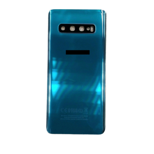 For Samsung Galaxy S10 G973F Rear Glass Battery Back Housing Cover+Camera Lens Green