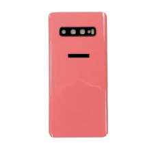 For Samsung Galaxy S10 G973F Rear Glass Battery Back Housing Cover+Camera Lens Orange