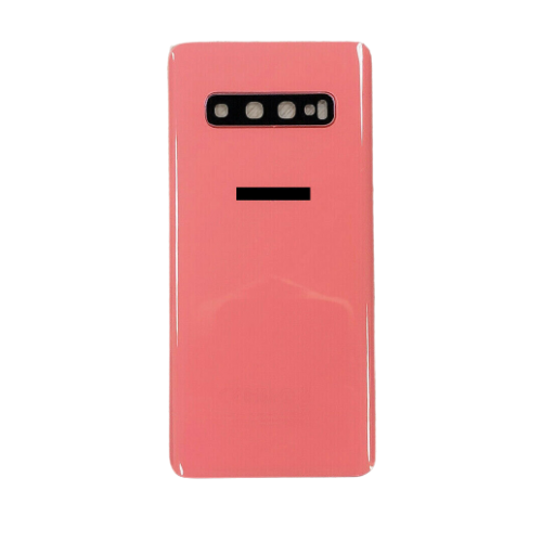 For Samsung Galaxy S10+ Plus Rear Glass Battery Back Housing Cover+Camera Lens Orange