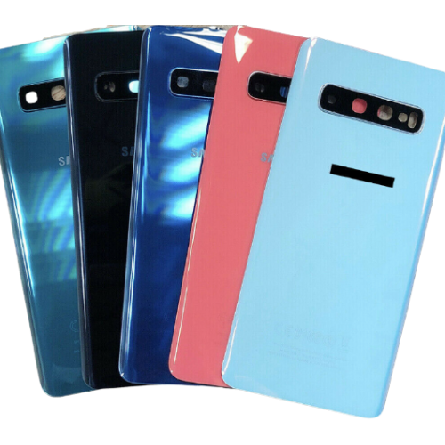 For Samsung Galaxy S10 G973F Rear Glass Battery Back Housing Cover+Camera Lens Blue