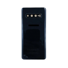 For Samsung Galaxy S10 G973F Rear Glass Battery Back Housing Cover+Camera Lens Black