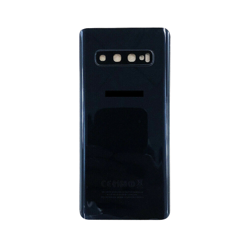 For Samsung Galaxy S10+ Plus Rear Glass Battery Back Housing Cover+Camera Lens Black