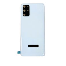 For Samsung Galaxy S20/5G Rear Glass Battery Back Door Housing Cover+Camera Lens White