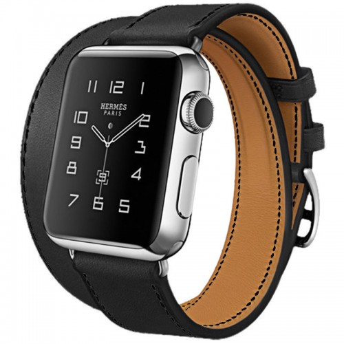 2020 Hoco Art Series 100% Real Leather Band Strap Buckle Apple Watch 38mm Black