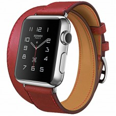 2020 Hoco Art Series 100% Real Leather Band Strap Buckle Apple Watch 38mm Red