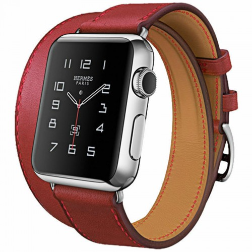 2020 Hoco Art Series 100% Real Leather Band Strap Buckle Apple Watch 42mm Red