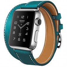 2020 Hoco Art Series 100% Real Leather Band Strap Buckle Apple Watch 38mm Blue
