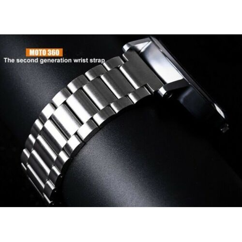 Butterfly Clasp Stainless Steel Watch Strap for Motorola Moto 360 2nd 22mm