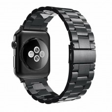 HOCO Genuine Stainless Steel Buckle Watch Strap For iWatch Series 1 2 3 38mm Black
