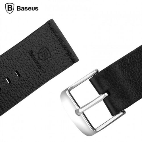 Baseus Genuine Leather Classic Buckle Watch Band Strap For Apple Watch 42mm Black