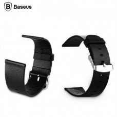 Baseus Genuine Leather Classic Buckle Watch Band Strap For Apple Watch 38mm Black