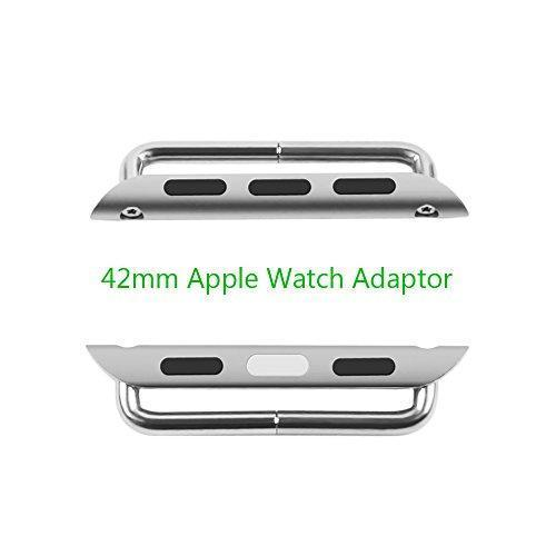 Stainless Steel Watch Band Connection Adapter for Apple Watch iWatch 42mm