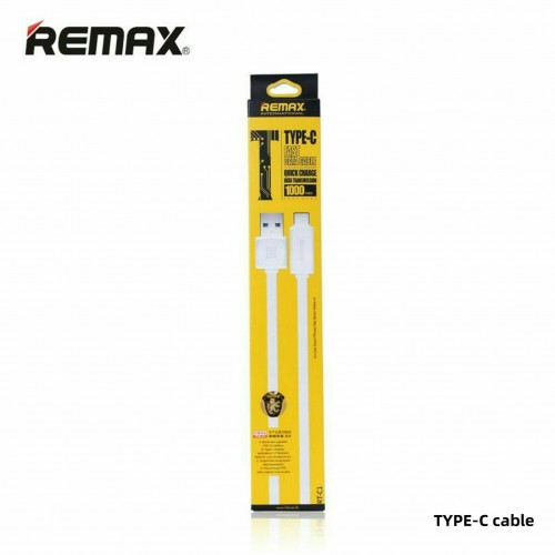 REMAX Fast Charger Type-C Charging Cable Power Lead for Nintendo Switch / Lite White