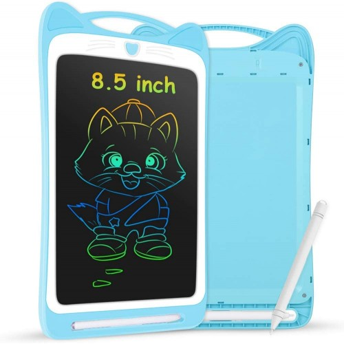 HB91 Cat Ears With lock 8.5 Inch Colour LCD Writing Board Blue