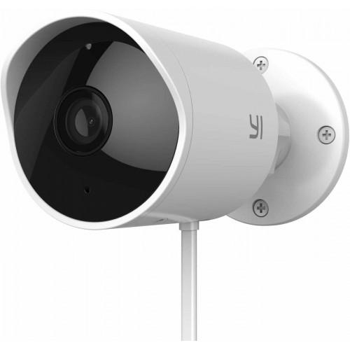 YI Outdoor Security Camera 1080p Cloud IP Waterproof White Refurbished