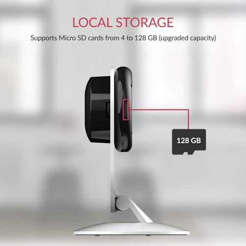 YI Smart Security Camera, 1080p Wifi Home Indoor Camera  White Refurbished