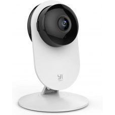 YI Smart Security Camera, 1080p Wifi Home Indoor Camera with AI Human detection White