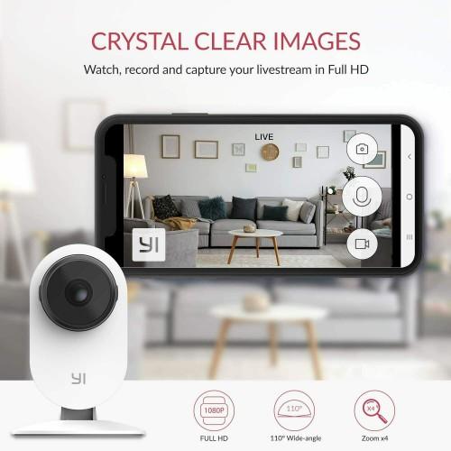 YI Smart Home Camera 1080p White Refurbished