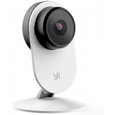 YI Smart Home Camera 3, AI-Powered 1080p 2.4G Wi-Fi Security Surveillance System White