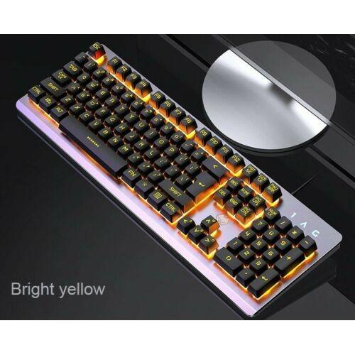 Gaming Keyboard Rainbow RGB LED Backlit Wired USB Illuminated For PC Laptop Xbox