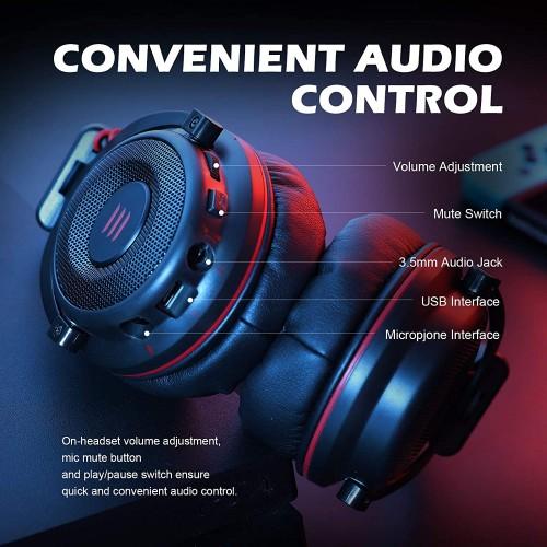 EKSA E900 Pro Wired Gaming Headphone Black