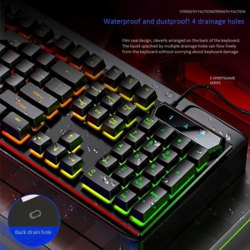 YINDIAO V4 Gaming Keyboard Mechanical Keyboard USB Wired Backlit Keyboard Black