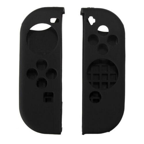 Silicone Anti-Slip Protective Skin Cover For Nintendo Switch Joy-Con Controller Black