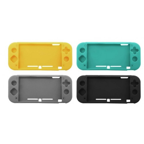 Silicone Case for Nintendo Switch lite Soft Full Body Shock Protective Cover UK Black
