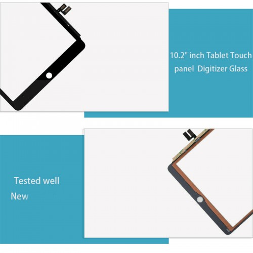 """For iPad 7th Gen 10.2"""" A2197 A2198 A2200 Touch Screen Glass Digitizer Black"""