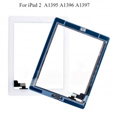 For iPad 2 Touch Screen Glass Digitizer Replacement With Home Button OEM White