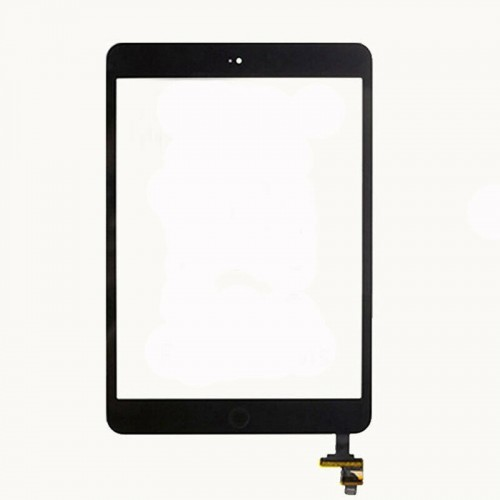 For iPad Mini 1/2 Touch Screen Glass Digitizer Replacement OEM IC Button Black