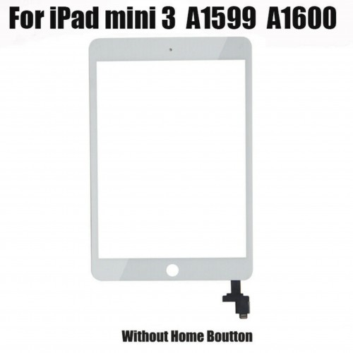 For iPad Mini 3 A1599 A1600 Touch Screen Digitizer Glass Replacement Genuine IC White