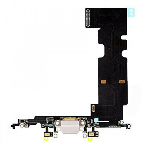 iPhone 8 Charging Port Connector Replacement Microphone Flex Cable White