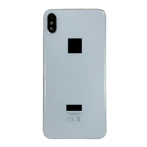 For iPhone XS Max Metal Frame Back Chassis Housing Rear Glass Cover Replacement White