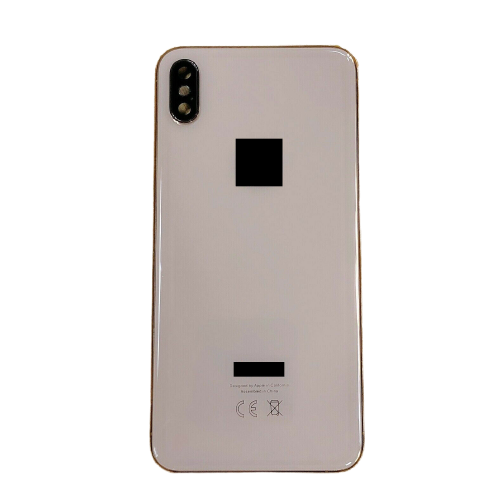 For iPhone XS Max Metal Frame Back Chassis Housing Rear Glass Cover Replacement Gold