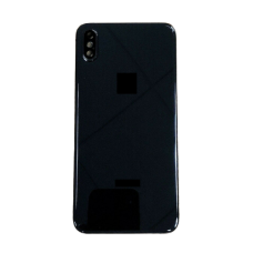 For iPhone XS Max Metal Frame Back Chassis Housing Rear Glass Cover Replacement Black