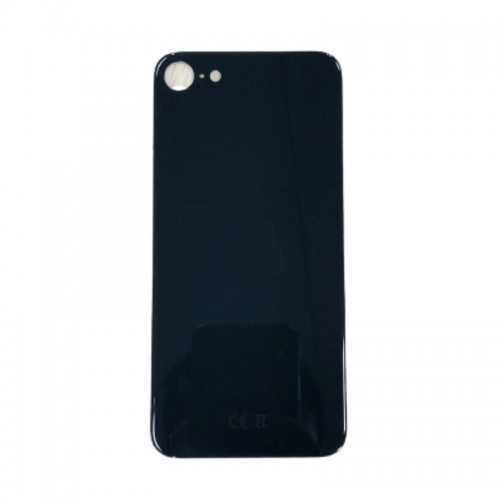 Big Hole-Rear Glass Battery Back Cover Replacement For iPhone SE 2 2020 Black