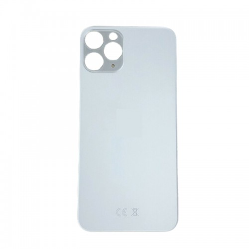 Big Hole-Rear Glass Battery Back Cover Replacement For iPhone 11 Pro Max White