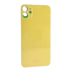 "Big Hole-Rear Glass Battery Back Cover Housing Replacement For iPhone 11 6.1"" Yellow"