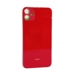 "Big Hole-Rear Glass Battery Back Cover Housing Replacement For iPhone 11 6.1"" Red"